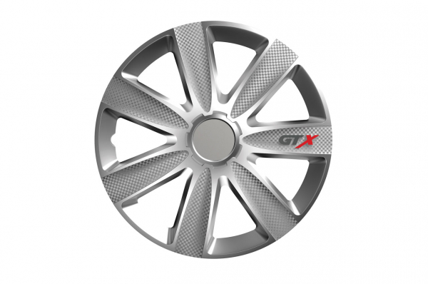 Capac de butuc de carbon GTX argintiu 15