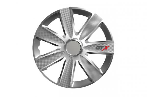 Capac de butuc de carbon GTX argintiu 16